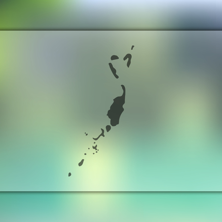 Palau map. Blurred background with silhouette of Palau map. Vector silhouette of Palau map.