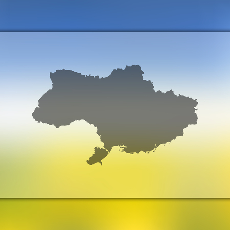 Ukraine map. Blurred background with silhouette of Ukraine map. Vector silhouette of Ukraine map.