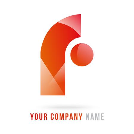 3d f letter design Vektorové ilustrace