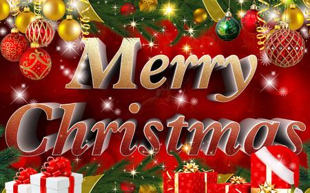 tenderly: merry christmas backround Stock Photo