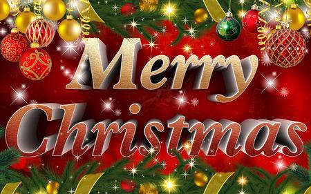 tenderly: merry christmas background Stock Photo