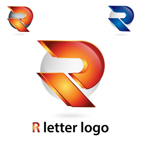 r letter design Illustration