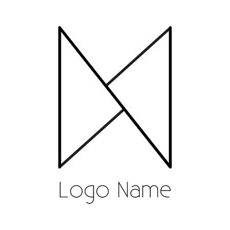 n letter design Ilustração