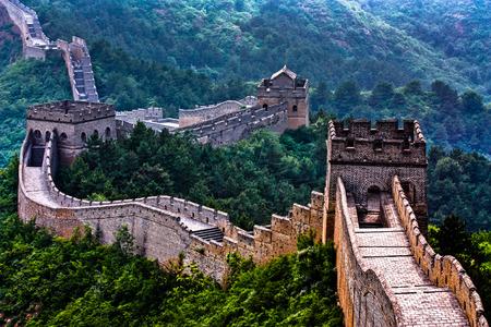 Deserted Great Wall of China Фото со стока