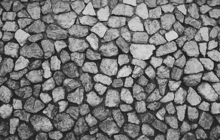 b and w: stone wall