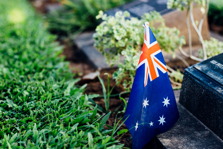 australia flag on tombstone