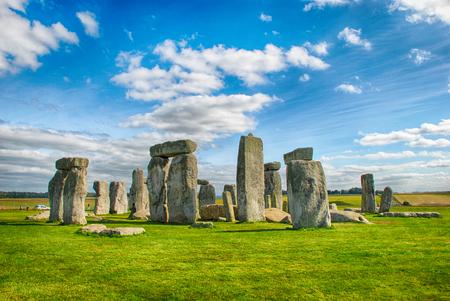 Stonehenge met Blauwe Hemel