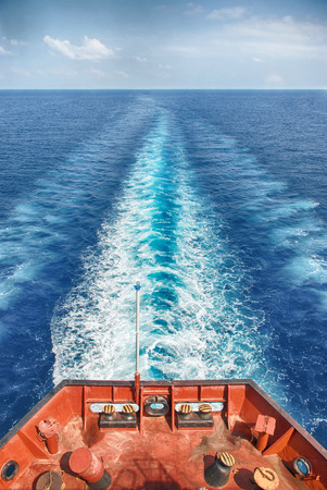 Motor Vessel Sailing in the Ocean