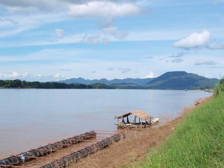 mekong: raft on Mekong river