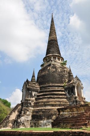 Ancient Buddhist pagoda ruins at Wat Phra Sri Sanphet temple, Ayutthaya, Thailand. photo