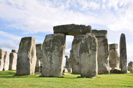 Stonehenge in Wiltshire, England. Reklamní fotografie - 36816308