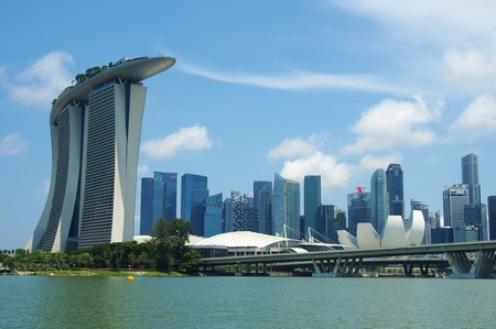 Marina Bay Sands and ArtScience Museum in Singapore.