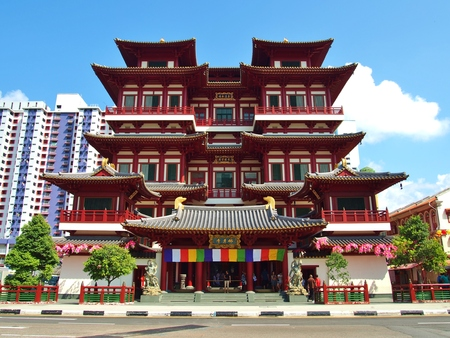 relic: Buddha Tooth Relic Temple in China Town Singapore.