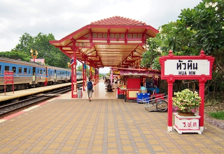 huahin: An image of the Hua Hin train station in Thailand. Editorial