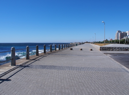Pathway beside the sea in Cape Town, South Africa. Stock Photo