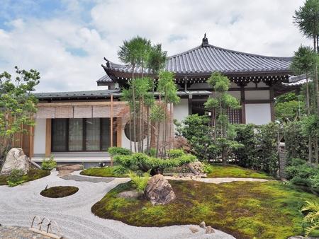 Shoin Hall und japanischen Garten am Hase-dera-Tempel, gemeinhin als Hase-Kannon in der Stadt Kamakura in Kanagawa-Präfektur, Japan. Standard-Bild - 80666200