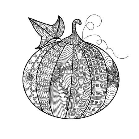 Calabaza Decorativa Con Un Hermoso Patrón. El Símbolo De Halloween ...