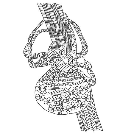 Araña. Ilustración Del Vector En Estilo Del Doodle. Dibujo Zentangle ...