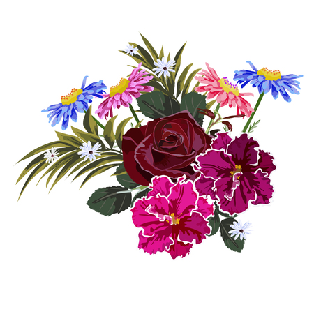 Bouquet of garden flowers.