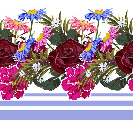 Garden flowers design pattern