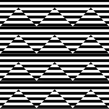 Geometric seamless black and white background with stripes and triangles. Stock fotó - 97030023