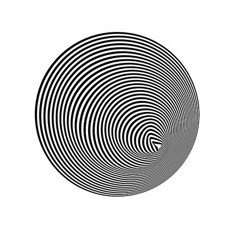 Abstract black and white striped background. Geometric pattern with visual distortion effect. Illusion of rotation. Stock Vector - 98138018