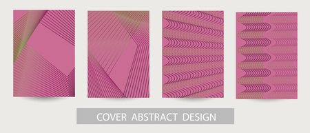 Abstract minimal geometric background. Geometric pattern with trendy gradient texture. For printing on covers, banners, sales, flyers. Modern design. Vector. EPS10 Ilustração