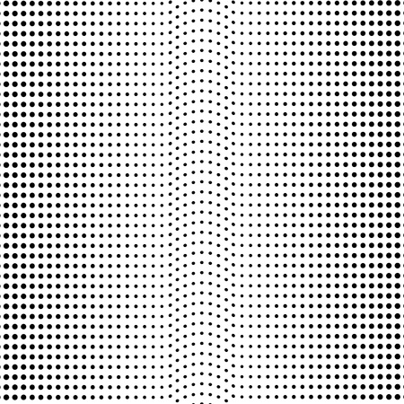 Abstract halftone pattern. Vector halftone dots background for design banners, posters, business projects, pop art texture, covers. Geometric black and white texture Иллюстрация