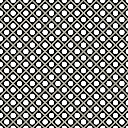 Seamless black and white background with polka dots. Geometric pattern for design cloth, wallpaper, gift wrapping. Print for silk, calico, home textiles.