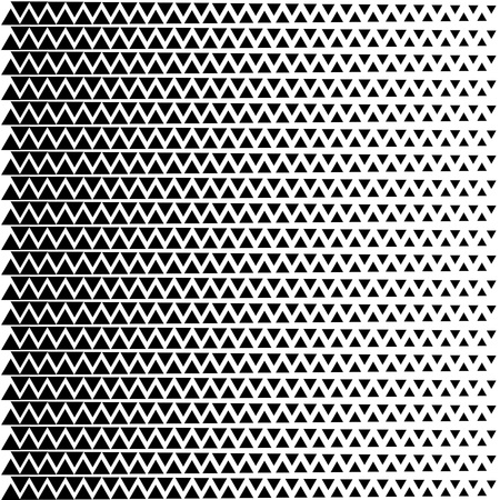 Abstract halftone pattern. Vector halftone background of triangles for design banners, posters, business projects, pop art texture, covers. Geometric black and white texture.