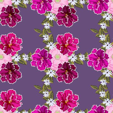 Modèle sans couture avec de jolies fleurs de jardin. Fond de fleur pour textile, couverture, papier peint, emballage cadeau, impression. Conception romantique pour calicot, soie.