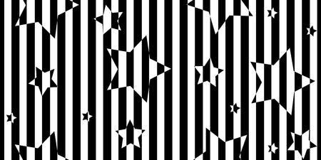Abstrait rayé noir et blanc. Motif géométrique sans couture avec effet de distorsion visuelle. Illusion d'optique. Op art.