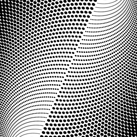 Abstract halftone pattern. Vector halftone dots background for design banners, posters, business projects, pop art texture, covers. Geometric black and white texture.