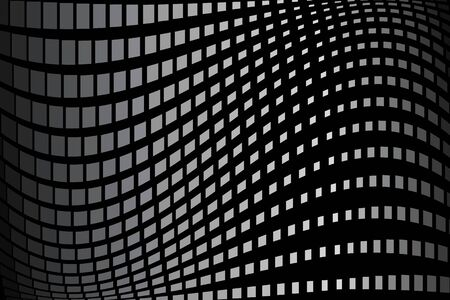 Abstract halftone pattern. Vector halftone background of squares for design banners, posters, business projects, pop art texture, covers. Geometric black and gray  texture. Ilustração