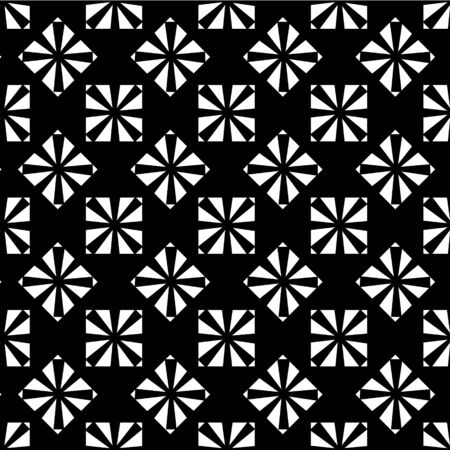 Geometric seamless pattern. Black-white background with geometric square shapes. For printing on fabric, packaging, wallpaper, covers.