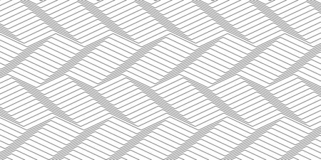 Wavy background of lines. Monochrome dynamic surface with effect of optical illusion. Vector.