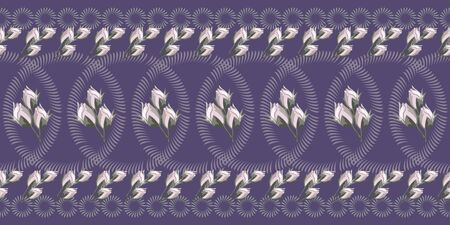 Seamless floral pattern with rose buds and geometric elements. Flower background for textile, cover, wallpaper, gift packaging, printing.Romantic design for calico, silk.