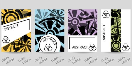 Abstract minimal geometric backgrounds set.Colorful geometric pattern with art texture . For printing on covers, posters, sales, flyers. Modern design. Vector. EPS10