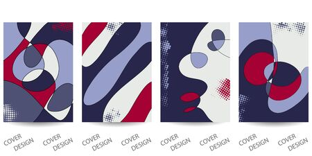 Abstract minimal geometric backgrounds set.Colorful geometric  pattern with art texture . For printing on covers, banners, sales, flyers. Modern design. Vector. EPS10 向量圖像
