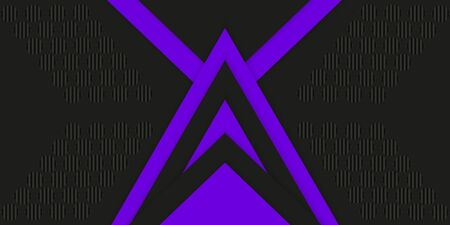 Geometric stylish black and violet background with triangles. Abstract 3d background with paper cut layers. Vector design element for banners, posters, covers. 向量圖像