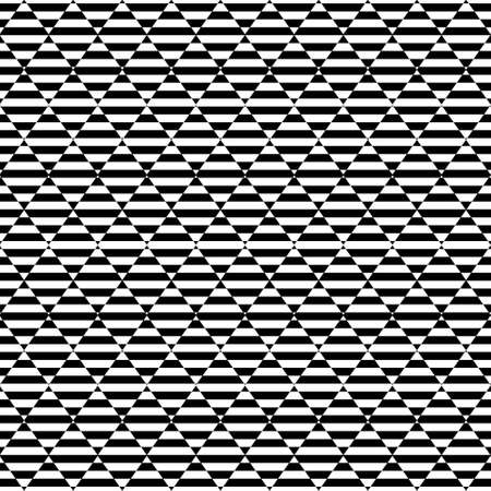 Geometric seamless black and white striped background with visual distortion effect. For the design of packaging, wallpaper, fabric, web. 矢量图像