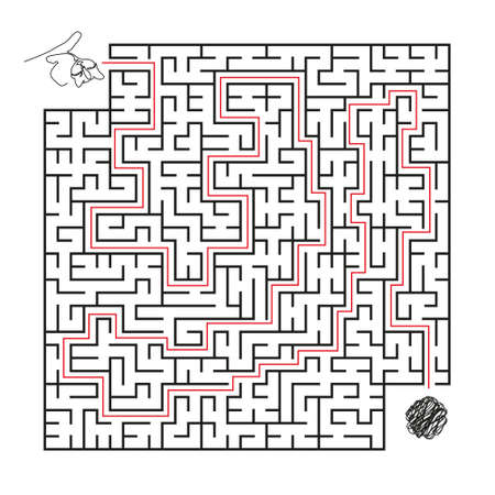 Labyrinth. Logical game for children and adults. Maze vector template isolated on white background. 矢量图像