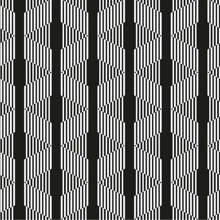 Geometric seamless black and white striped background with visual distortion effect. For the design of packaging, wallpaper, fabric, web. 免版税图像 - 156329609