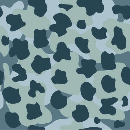 Camouflage seamless pattern. Vector military background in shades of green. Print for clothes, wallpaper, covers, packaging.