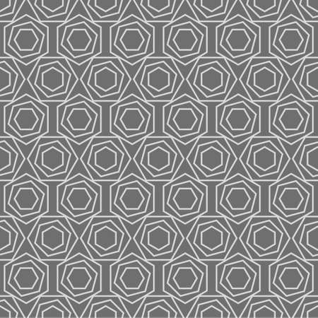 Seamless vector pattern in gray colors. Geometric texture from hexagons for printing on fabric, packaging, wallpaper, covers. 矢量图像