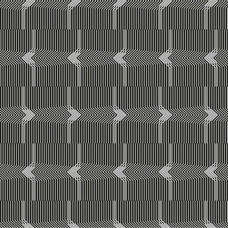 Geometric seamless black and white striped background with visual distortion effect. For the design of packaging, wallpaper, fabric, web. 免版税图像 - 157157309