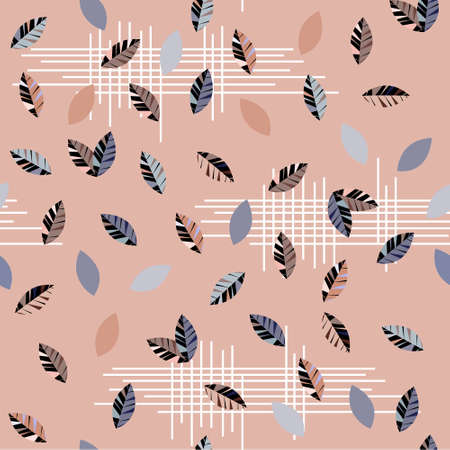 Seamless pattern with abstract autumn leaves. Minimalistic design for wallpaper, fabric, covers, paper.