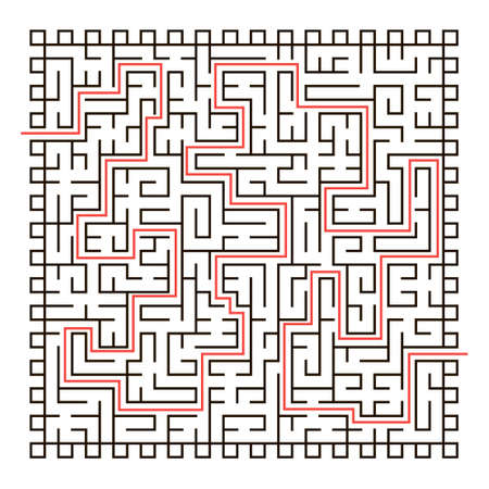 Labyrinth. Logical game for children and adults. Maze vector template isolated on white background. 免版税图像 - 161794977
