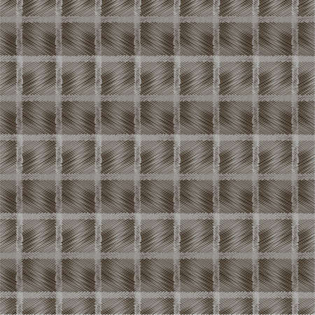 Geometric seamless pattern in gray and black color with mesh effect of intersecting thin lines. For printing on covers, fabrics, packaging, wallpaper, textiles.