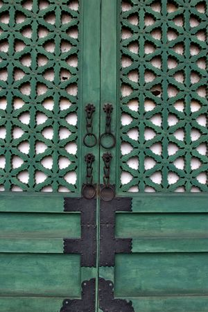 door in Changdeokgung Palace photo